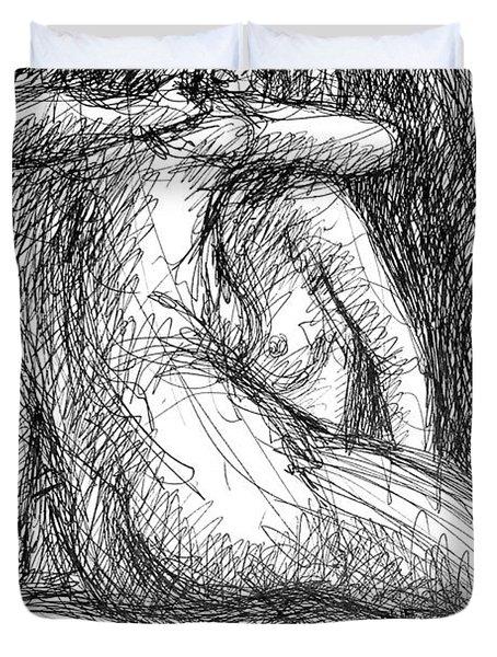 Lesbian Sketches  1 Duvet Cover