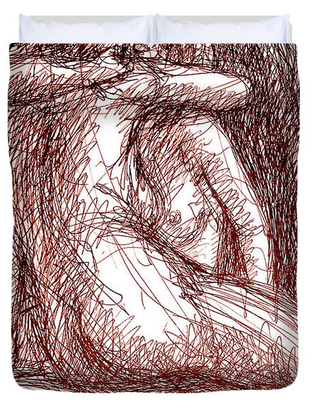 Lesbian Sketches 1b Duvet Cover