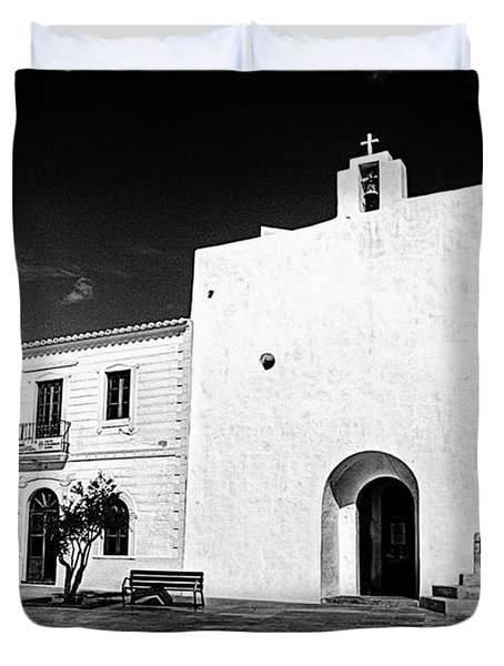 Fortified Church, Formentera Duvet Cover