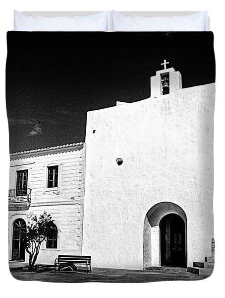 Fortified Church, Formentera Duvet Cover