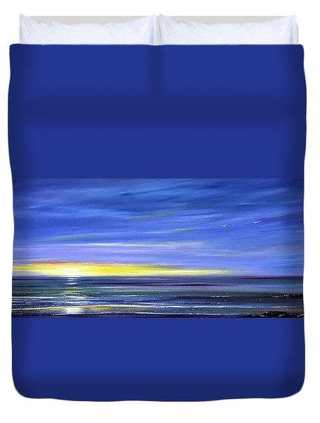 Less Drama Panoramic Sunset Duvet Cover