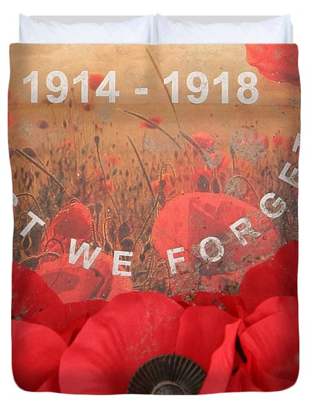 Lest We Forget - 1914-1918 Duvet Cover