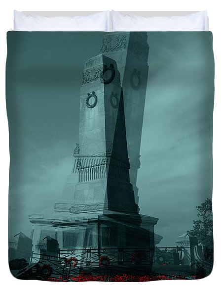 Lest We Forget. Duvet Cover by Keith Elliott