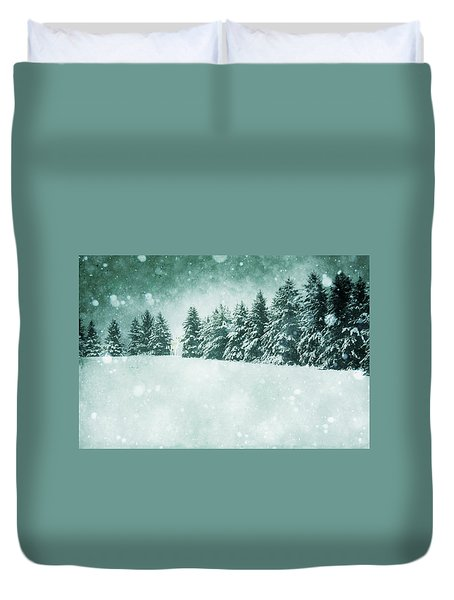 Let It Snow  Duvet Cover