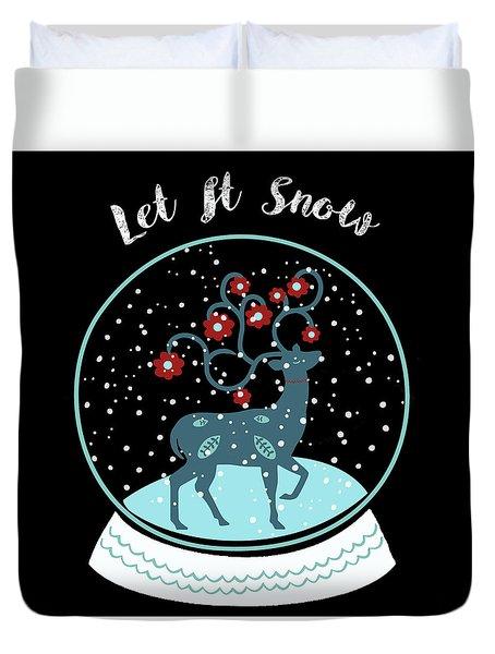 Let It Snow Duvet Cover by Marilu Windvand