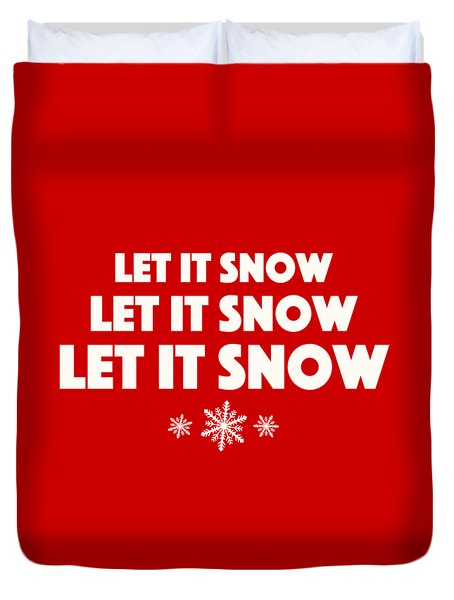 Let It Snow With Snowflakes Duvet Cover