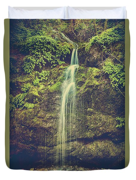 Duvet Cover featuring the photograph Let Me Live Again by Laurie Search