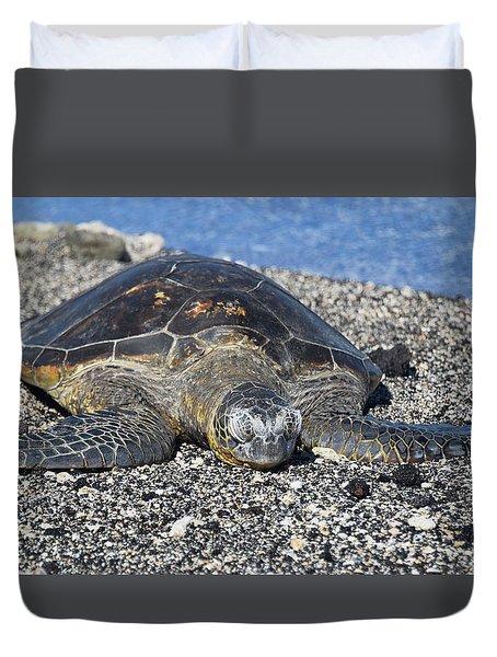 Duvet Cover featuring the photograph Let Me Rest by Pamela Walton