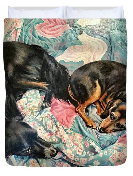 Let Sleeping Dogs Lie Duvet Cover