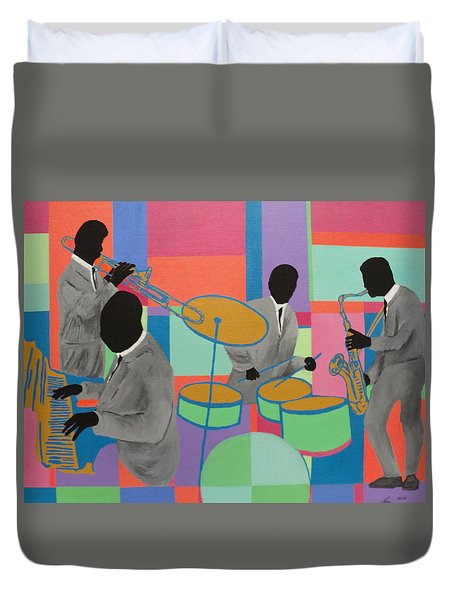 Let The Band Play Duvet Cover