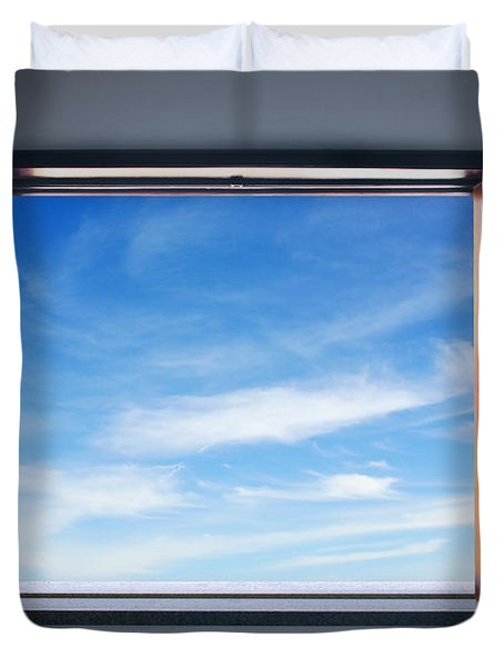 Let The Blue Sky In Duvet Cover by Carlos Caetano