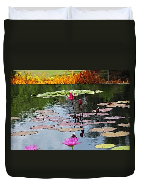 Duvet Cover featuring the photograph Let The Music Lift You by Michiale Schneider