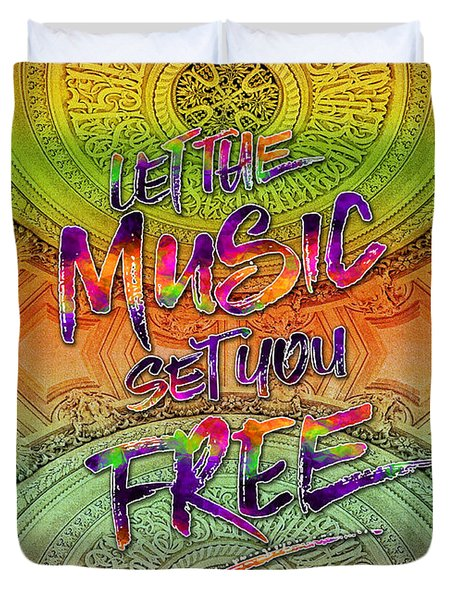 Let The Music Set You Free Rainbow Opera Garnier Paris Duvet Cover