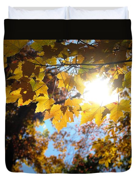 Let The Sun Shine In Duvet Cover by Angela Davies