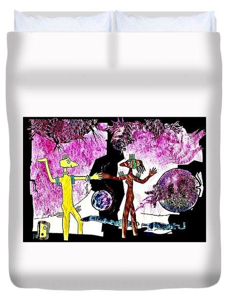 Let  Us  Dance Duvet Cover