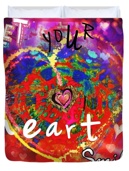 Let Your Heart Smile Duvet Cover