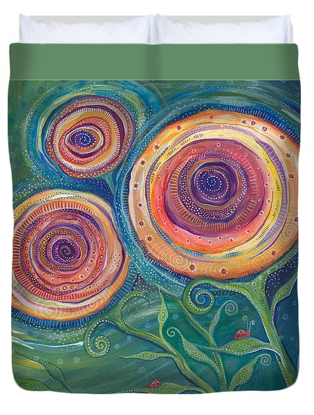 Duvet Cover featuring the painting Be The Light by Tanielle Childers