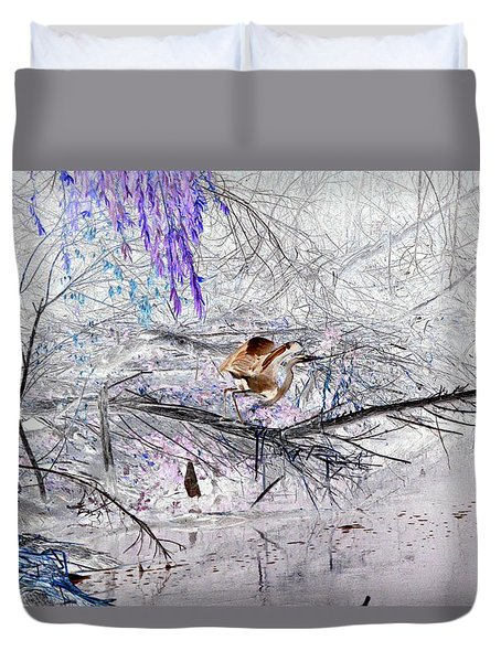 Let Your Mind Fly Away Duvet Cover