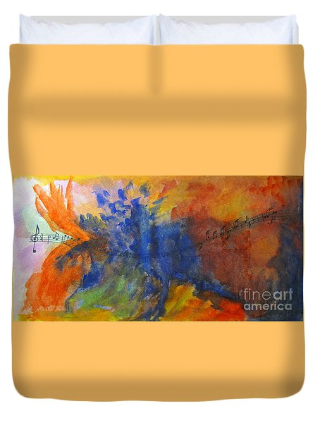 Let Your Music Take Wing Duvet Cover