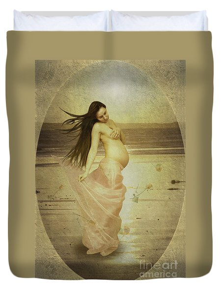 Let Your Soul And Spirit Fly Duvet Cover by Linda Lees