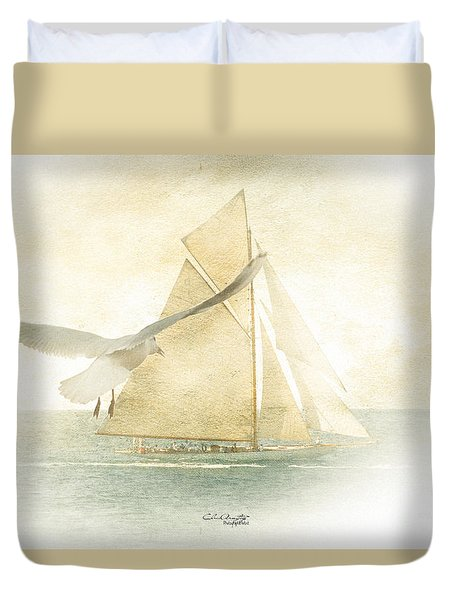 Duvet Cover featuring the painting Let Your Spirit Soar by Chris Armytage