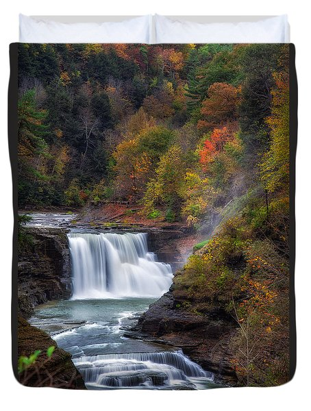 Letchworth Lower Falls 3 Duvet Cover