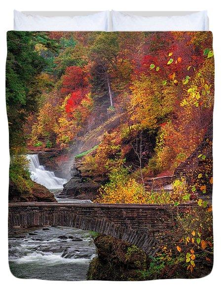 Letchworth Lower Falls Duvet Cover