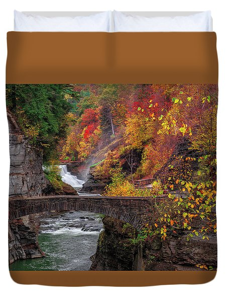 Letchworth Lower Falls Duvet Cover