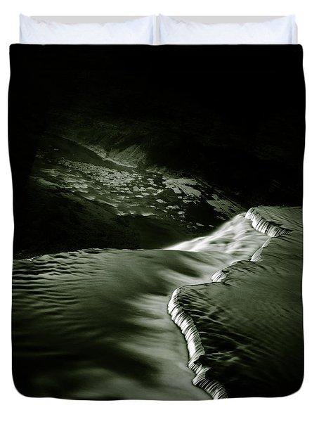 Letchworth Precipice Duvet Cover