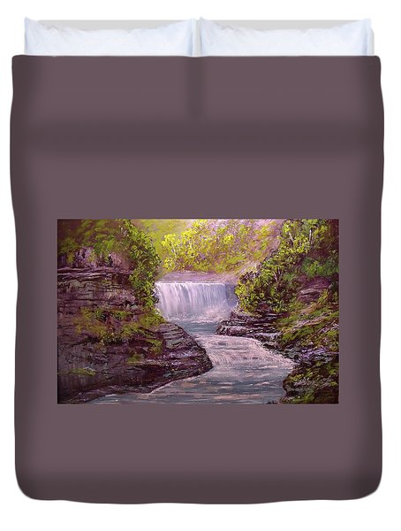 Letchworth State Park Duvet Cover