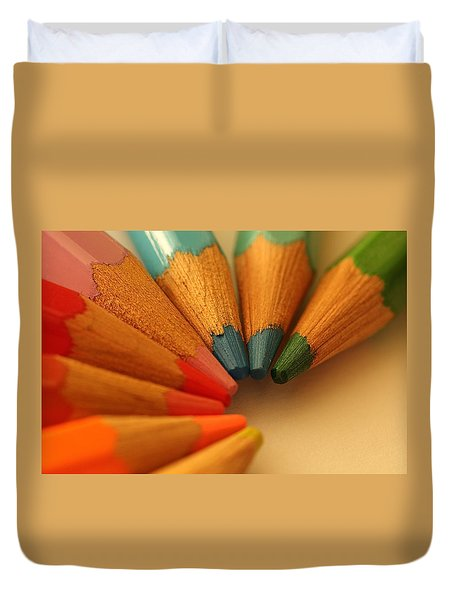 Lets Be Creative Duvet Cover by David Warrington