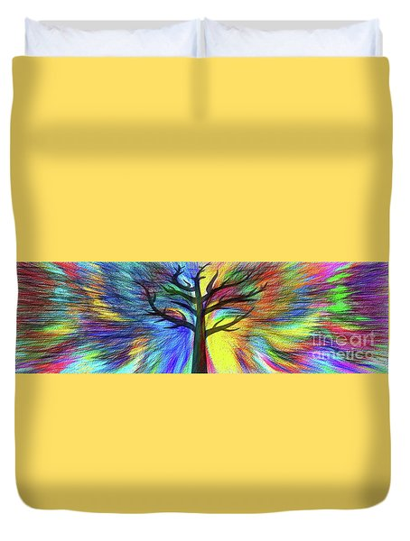 Duvet Cover featuring the photograph Let's Color This World By Kaye Menner by Kaye Menner