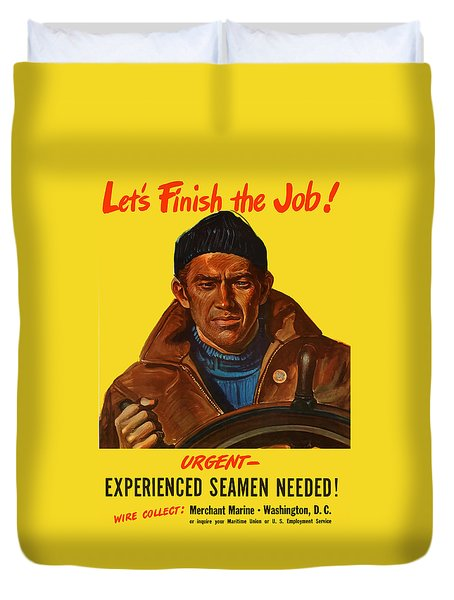 Let's Finish The Job Duvet Cover by War Is Hell Store