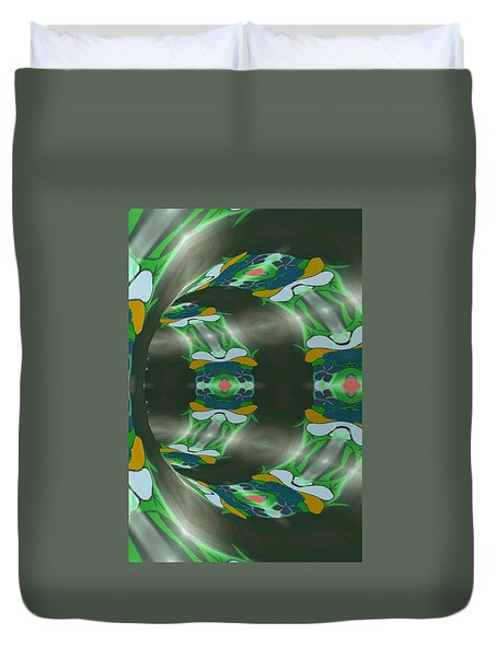 Let's Get Around It Abstract  Duvet Cover