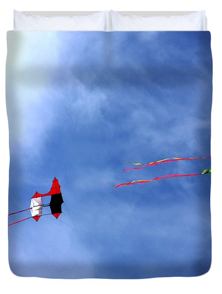 Let's Go Fly 2 Kites Duvet Cover