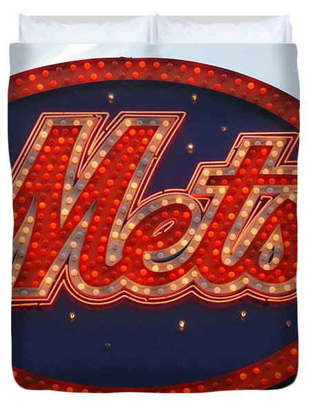 Lets Go Mets Duvet Cover by Richard Bryce and Family