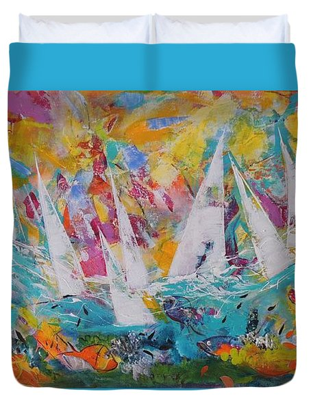 Lets Go Sailing Duvet Cover