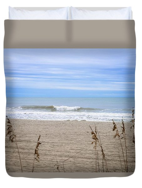 Duvet Cover featuring the photograph Let's Go To The Beach by Mary Timman