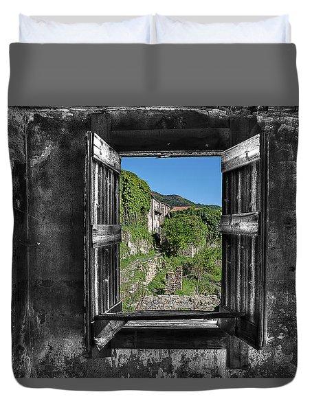 Duvet Cover featuring the photograph Let's Open The Windows - Apriamo Le Finestre by Enrico Pelos