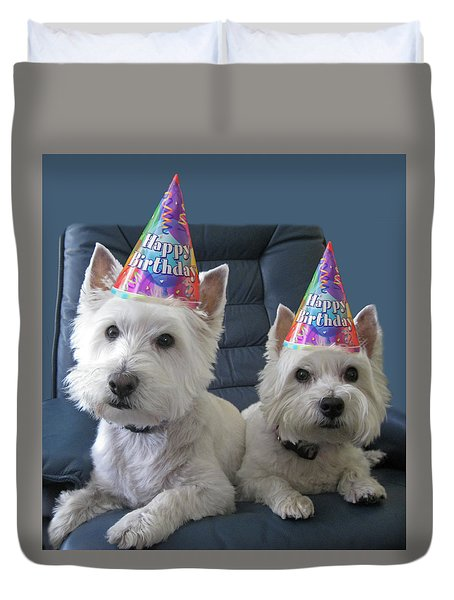 Duvet Cover featuring the photograph Let's Party by Geraldine Alexander