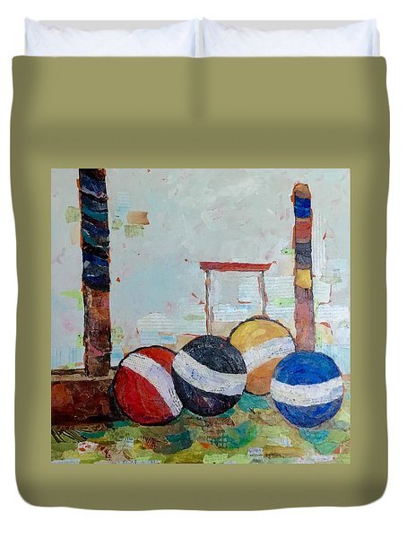 Let's Play Croquet Duvet Cover