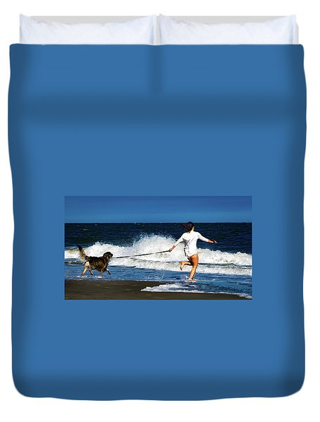 Let's Play In The Water Duvet Cover