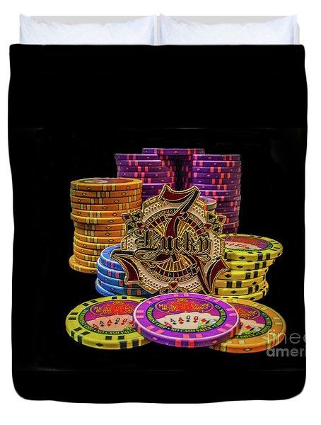 Lets Play Poker Duvet Cover