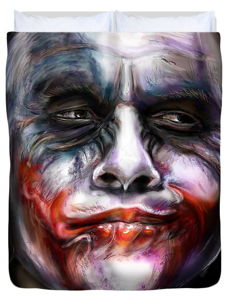 Let's Put A Smile On That Face Duvet Cover by Vinny John Usuriello