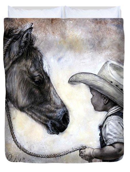 Lets Ride Duvet Cover by Virgil Stephens