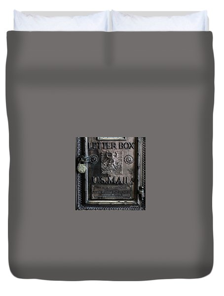 Letter Box Drop Duvet Cover