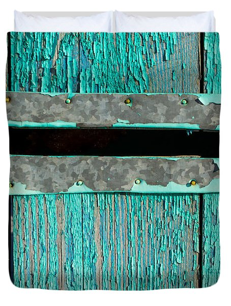 Letter Box On Blue Wood Duvet Cover
