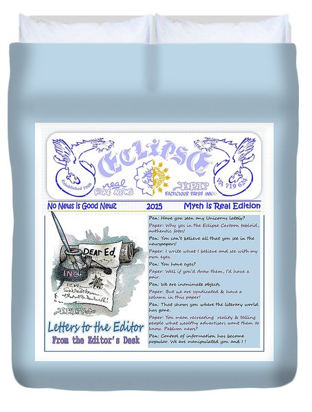 Real Fake News Letters To The Editor Duvet Cover