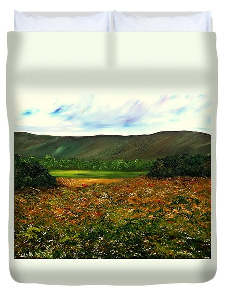 Letting Life Open Up Duvet Cover by Lisa Aerts