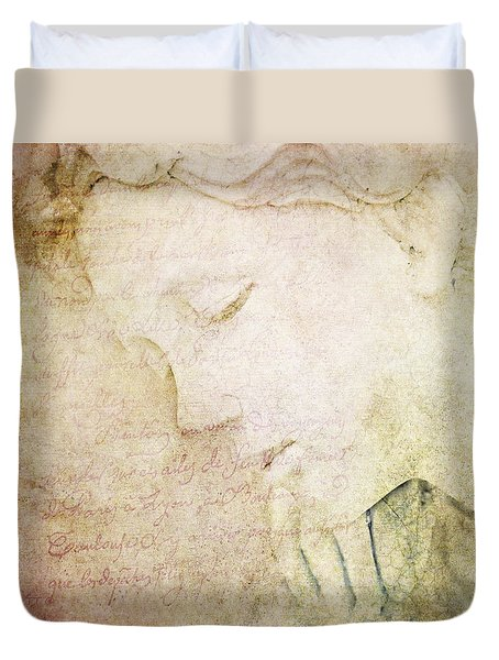 Lettre A Mon Amour Duvet Cover by Theresa Tahara